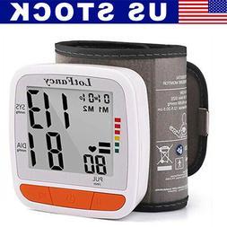 All Size Wrist Blood Pressure Monitor BP Cuff Heat Rate Care