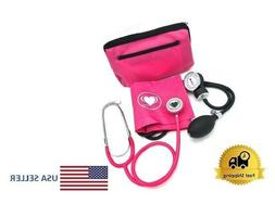 Aneroid Sphygmomanometer Stethoscope Kit Manual Blood Pressu