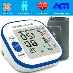 Arm High Blood Pressure Monitor Digital BP Cuff LCD Pulse Me