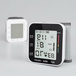 Auto Digital Wrist Blood Pressure Monitor BP Cuff Gauge Mach