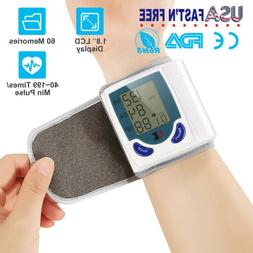 Automatic Blood Pressure Monitor Digital BP Wrist Cuff Home