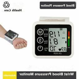 Automatic Digital LCD Wrist Cuff Blood Pressure Pulse Monito