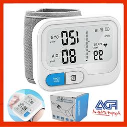 Automatic Digital Wrist Blood Pressure Monitor BP Cuff Voice