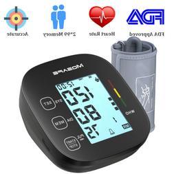 Automatic High Blood Pressure Monitor BP Cuff Gauge Heart Ra