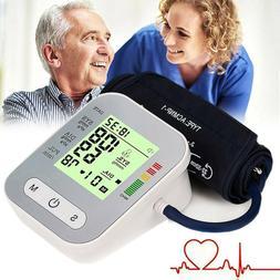 Automatic Upper Arm Digital Blood Pressure Monitor Pulse Met