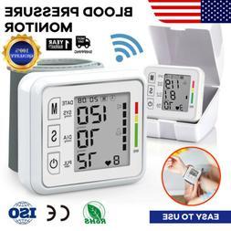 Automatic Wrist Blood Pressure Digital Monitor BP Cuff Heart