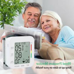 Automatic Wrist Blood Pressure Monitor Cuff Heart Rate Teste