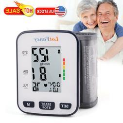 Digital Automatic Wrist Cuff Blood Pressure Monitor BP Machi