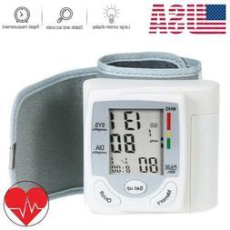 Blood Pressure Monitor Auto Heart Rate Checker BP Cuff Wrist