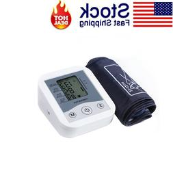 Blood Pressure Monitor Upper Arm Digital LCD Machine with La