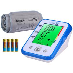 Blood Pressure Monitor Upper Arm Large 9''-17''Cuff, 3-Color