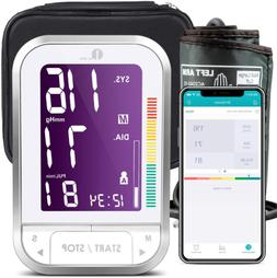 Bluetooth Automatic Electronic Blood Pressure Monitor With L