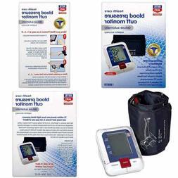 Deluxe Automatic Blood Pressure Cuff Digital Monitor
