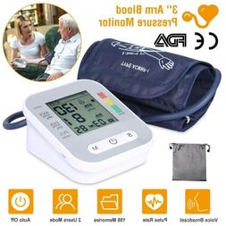 Digital Upper Arm Blood Pressure Monitor Voice Reading BP Cu