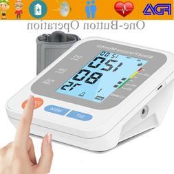 Digital Arm Blood Pressure Monitor Voice Reading BP Cuff Met