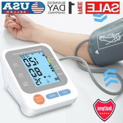 Digital High Blood Pressure Monitor BP Cuff LCD Pulse Meter