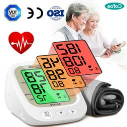digital lcd arm blood pressure monitor rechargeable