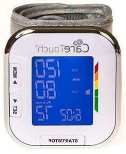 Fully Automatic Wrist Blood Pressure Cuff Monitor - Platinum