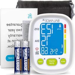 Greatergoods Wrist Blood Pressure Monitor, Large Cuff, Batte