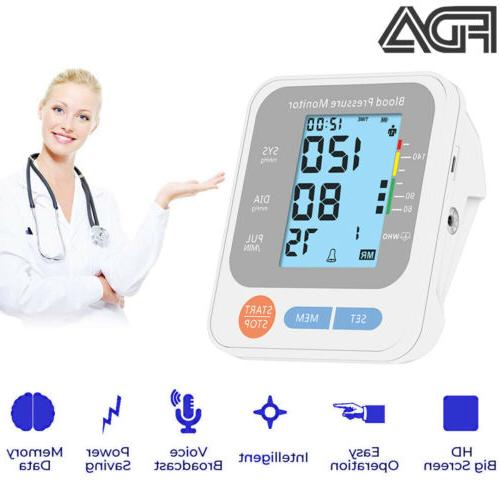 auto digital blood pressure monitor pulse large