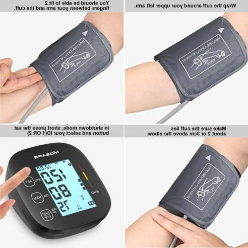 Automatic Digital Arm Blood Pressure Heart Rate Machine BP
