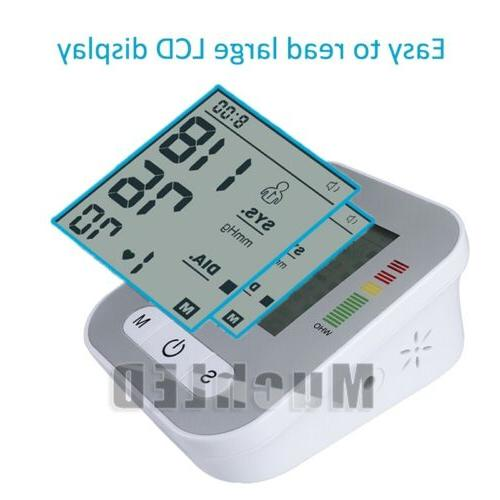Automatic Digital Upper Arm Blood Pressure Monitor Pulse Machine US