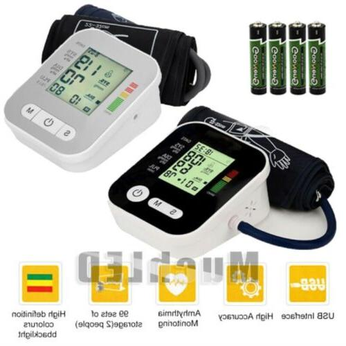automatic digital upper arm blood pressure cuff