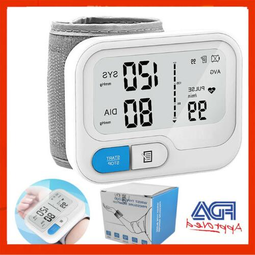 automatic digital wrist blood pressure monitor bp