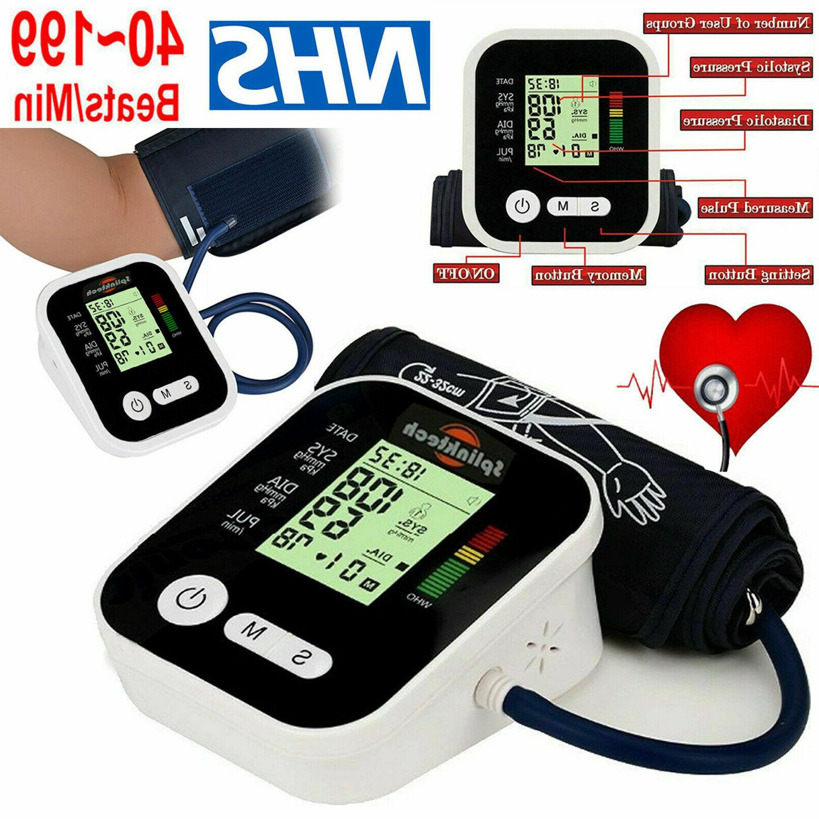 automatic smart blood pressure monitor upper arm
