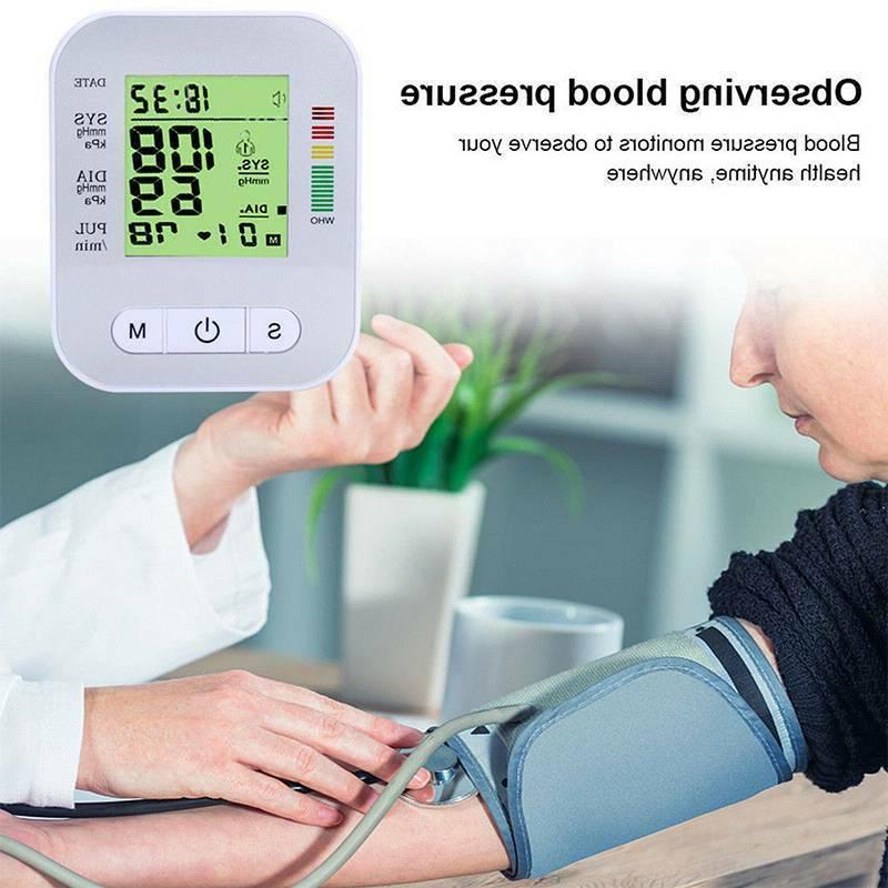 Automatic Blood Pressure Monitor Pulse Meter Cuff Machine