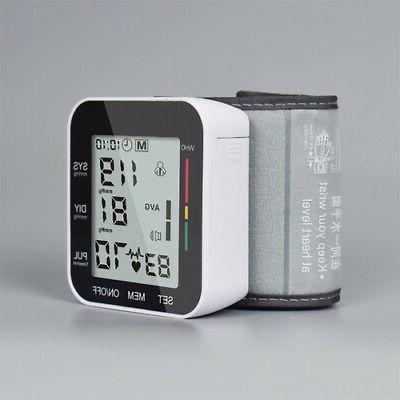 Automatic Digital Wrist Blood Pressure Monitor BP Cuff Machi