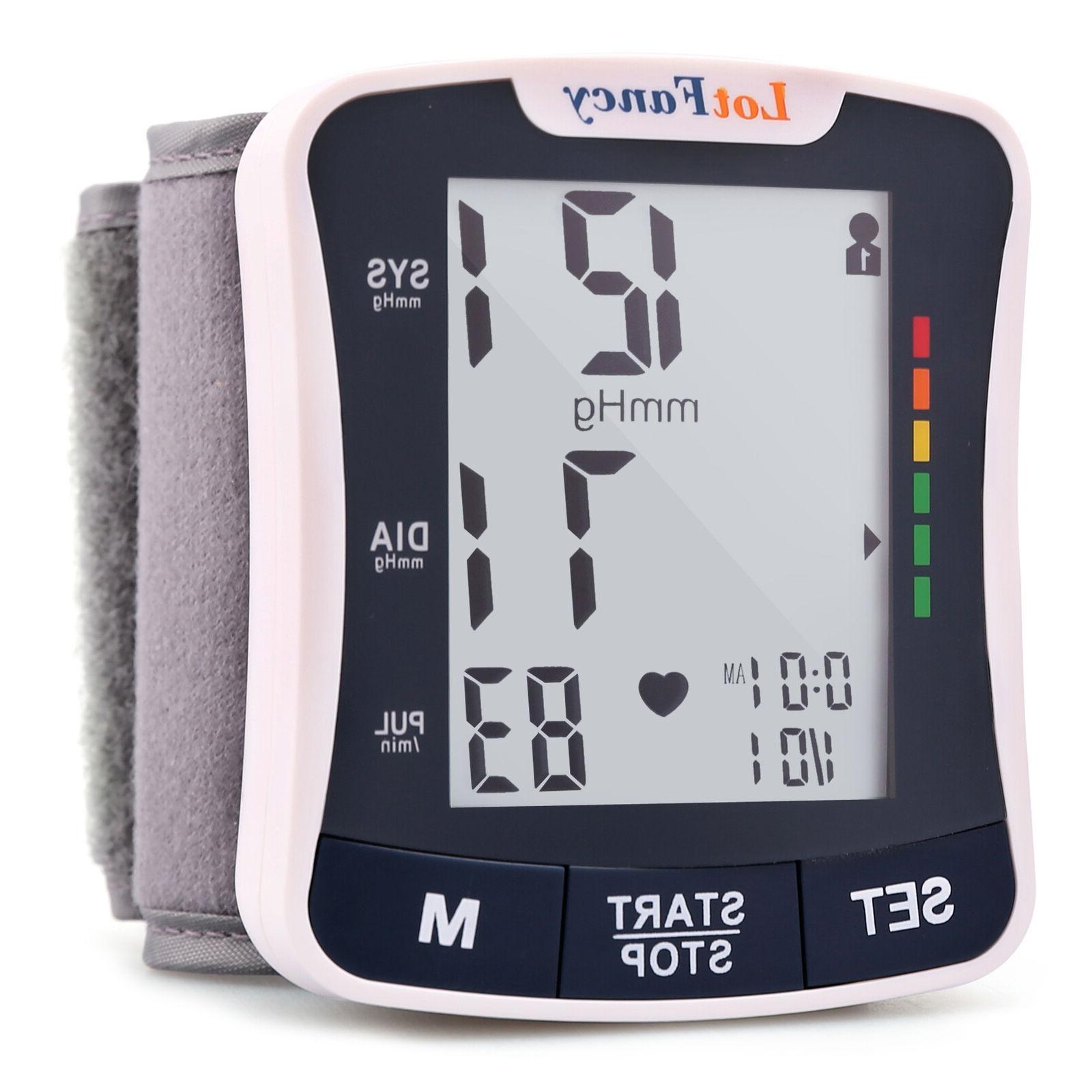 automatic wrist high blood pressure monitor bp