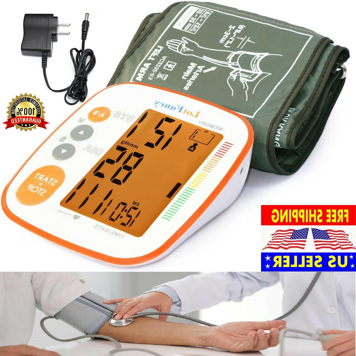 blood pressure monitor large cuff arm automatic