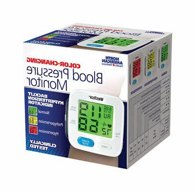 digital blood pressure monitor adjustable wrist cuff