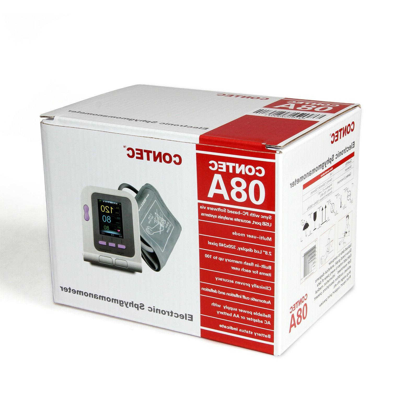 CONTEC-08A Digital Pressure Monitor Upper Arm Cuffs+SW Adult/Pediatric