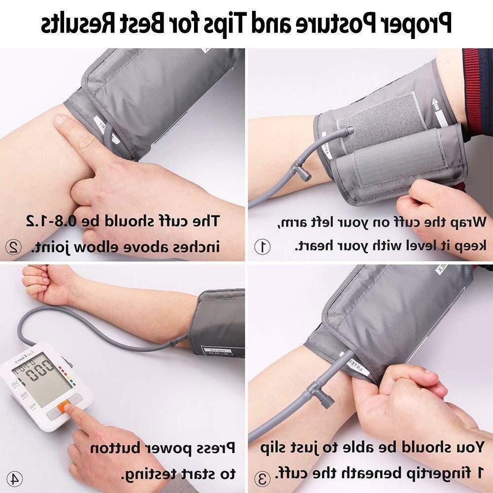 Smart Arm Blood Pressure Heart Rate Machine Meter