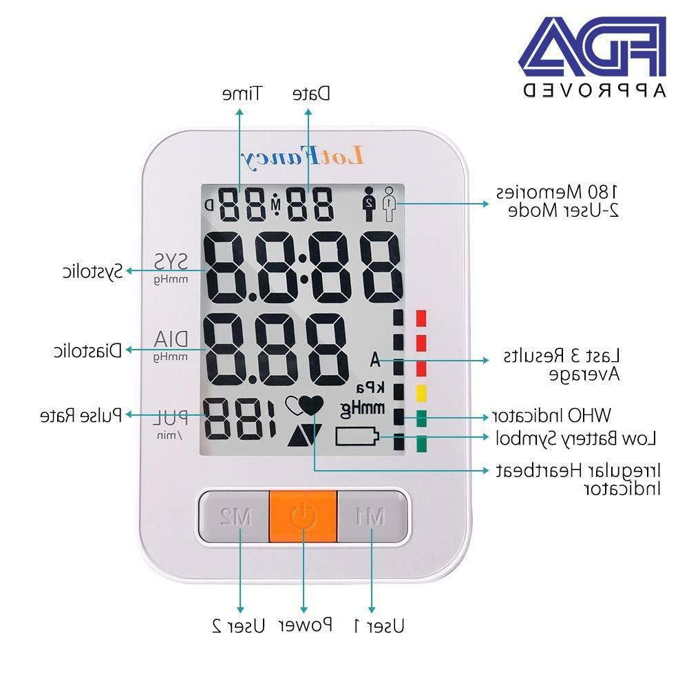 Smart Digital Arm Pressure Monitor Machine Meter