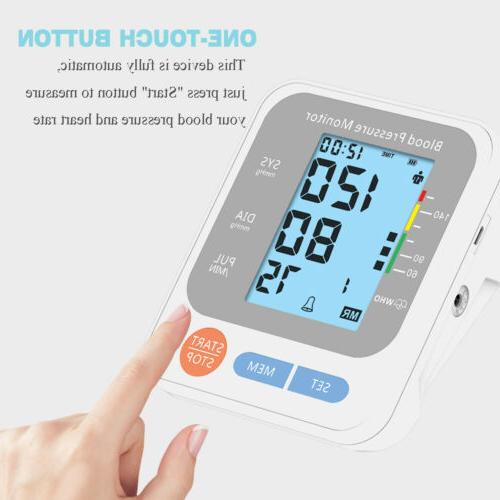 Automatic Arm Blood Monitor Pulse Heart Rate