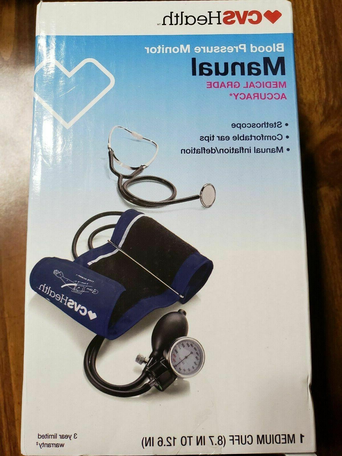 health manual blood pressure monitor w stethoscope