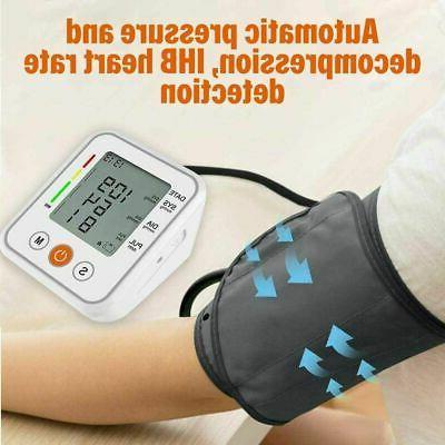 Heart Rate LCD Blood BP Cuff Meter Machine