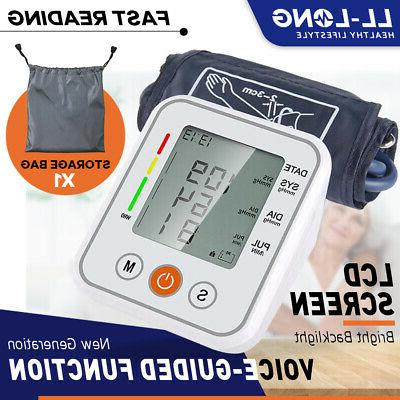 heart rate digital lcd blood pressure monitor