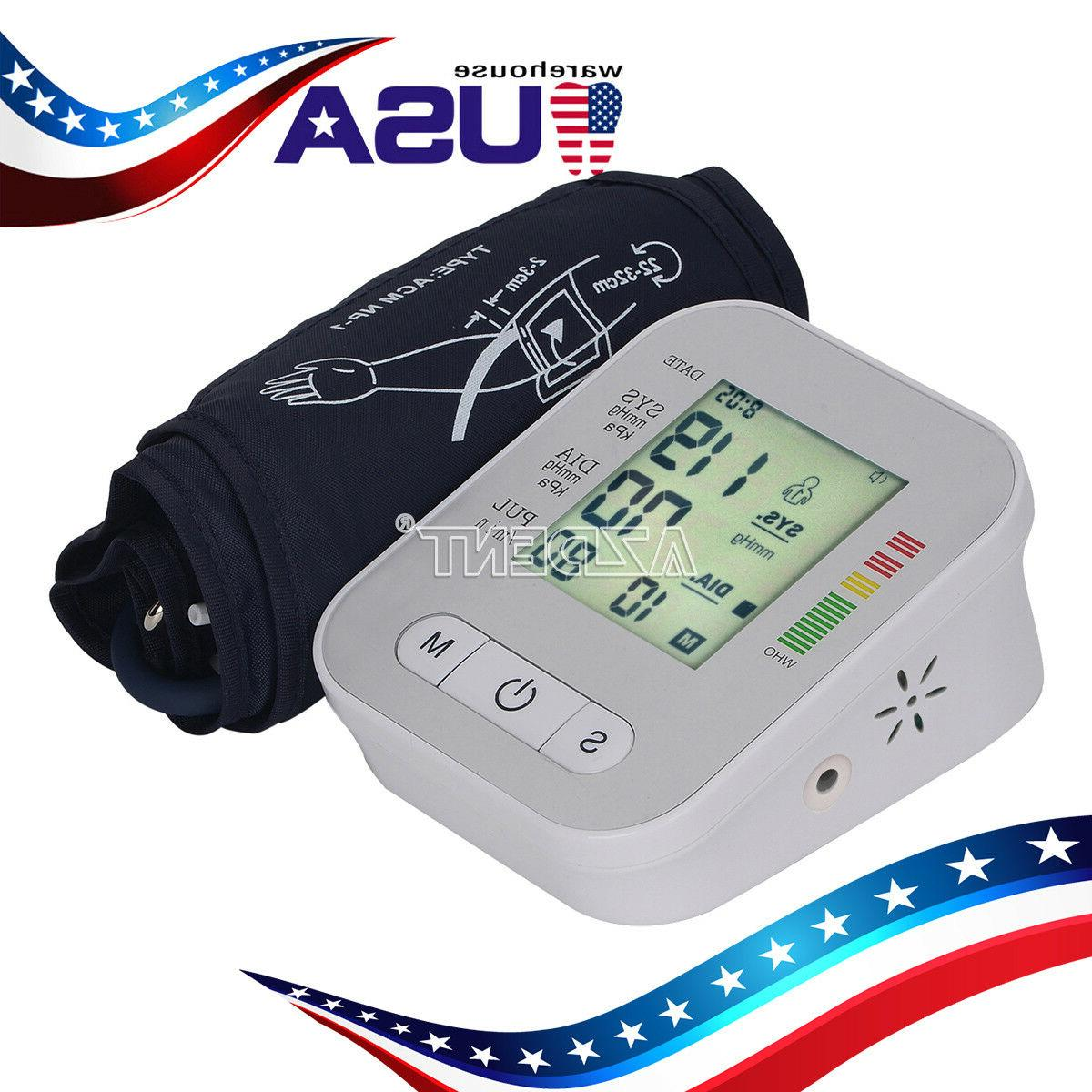 lcd digital upper arm blood pressure monitor