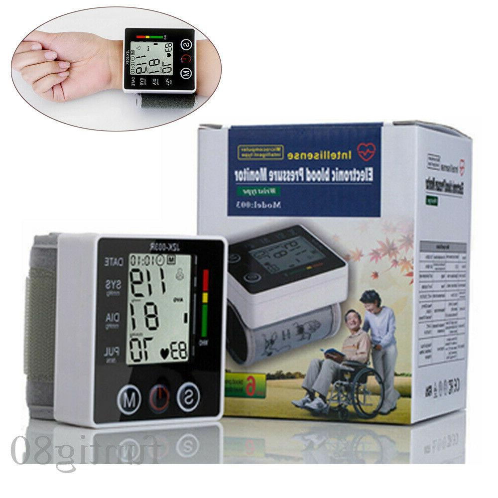 lcd display wrist blood pressure monitor machine