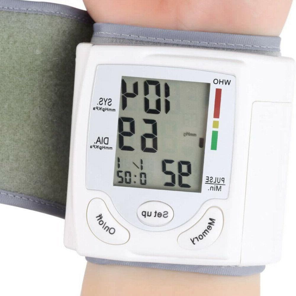 NEW Automatic Digital Wrist Blood Pressure Monitor Cuff US