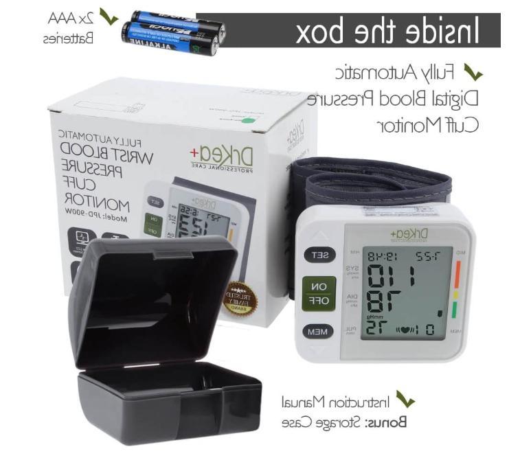 New DrKea Wrist Blood Pressure Cuff Monitor