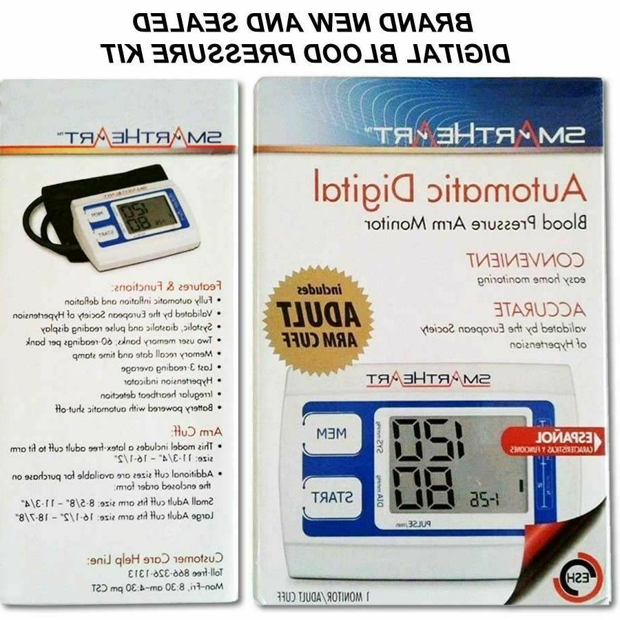 NEW Smart Heart Bilingual Digital Pressure Monitor English Spanish
