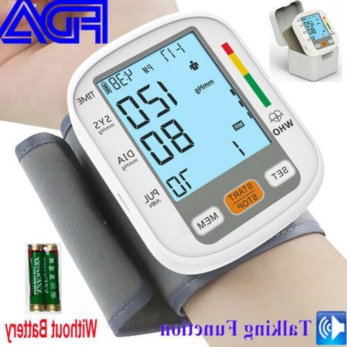 portable auto wrist blood pressure monitor machine