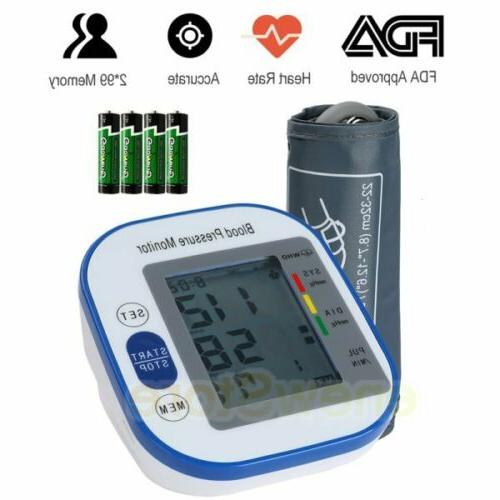rechargeable automatic digital arm blood pressure monitor