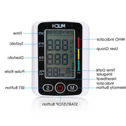 Rechargeable Automatic Digital Pressure Monitor Meter
