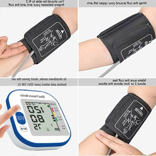 Upper Arm Pressure Monitor Portable LED Pulse -Gift